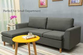100 Best Contemporary Sofas Sectional Sofa LShape Sectional Couch With Reversible Chaise Couches And With Modern Linen Fabric For Small Space Grey