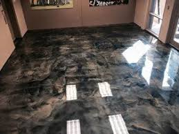 DIY Epoxy Metallic Floor Brown Gold Silver