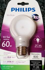 philips 60w led bulb ted s energy tips