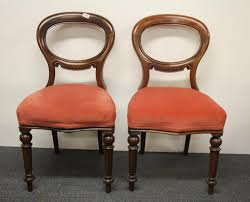 A Pair Of 19th Century Red Upholstered Mahogany Balloon Backed Dining  Chairs Together With Purchase Receipt, H. 89cm. Antique Chairsgothic Chairsding Chairsfrench Fniture Set Ten French 19th Century Upholstered Ding Chairs Marquetry Victorian Table C 6 Pokeiswhatwedobest Hashtag On Twitter Chair Wikipedia William Iv 12 Bespoke Italian Of 8 Wooden 1890s Table And Chairs In Century Cottage Style Home With Original Suite Of Empire Stamped By Jacob Early