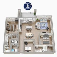 One Floor House Design Plans Bedroom Single Home Plan 3d 2