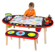 Crayola Wooden Table And Chair Set by Kids Art Table Ebay