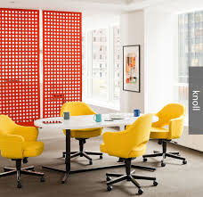 Yellow fice Chairs from Knoll
