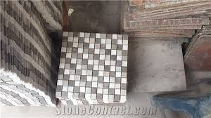 Mixed Marble Chips 1x1 Inches Mosaic Tile For Kitchen Wall