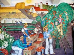 Coit Tower Murals Wpa by Murals Depicting Workforce Google Search 1 Reforma Laboral
