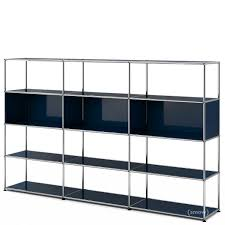 usm haller living room shelf xl steel blue ral 5011 by