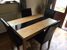 BRISBANE ASHLEIGH OAK ASH GLASS SOLID DINING TABLE CHAIRS
