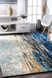 nuLOOM Abstract Contemporary Modern Area Rug Multi in Blue Gray