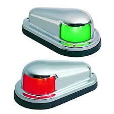 perko horizontal mount side navigation lights running green