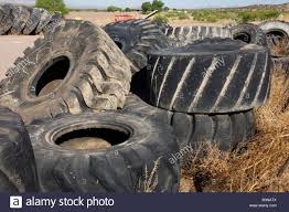 100 Used Truck Tires Old Used Mine Truck Tires Tyres Heavy Equipment Tires Stacked Stock