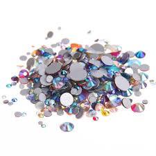 100 Ab Flat AB Flat Back Non Hotfix Rhinestones Flatback Glass Stones 3d Nail