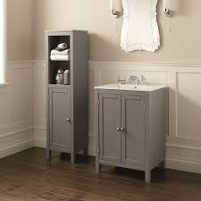 bathroom furniture single vessel sink yellow blue half