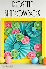 DIY Rosette Shadowbox Step By Step