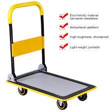 100 Flatbed Hand Truck Goplus Folding Platform Cart 330LBS Rolling Cart