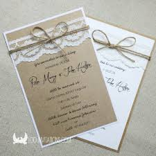 Unique Rustic Outdoor Wedding Invitations Wooden Twine
