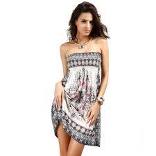 women beach coverup sundress strapless summer dress beautiful