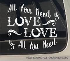 100 Custom Window Decals For Trucks All You Need Is Love Horse Hoof Vinyl Car Truck Trailer Decal