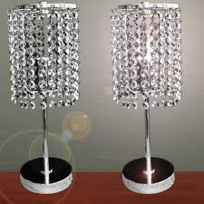 Large Crystal Lamp Finials by Furniture Pair Of Touch Bedside Table Lamps With Stainless Steel