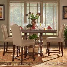 HomeSullivan Madison 5 Piece Sand Beige Counter Height Dining Set