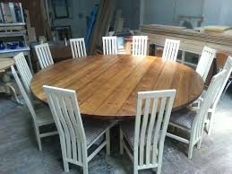 Round Dining Room Table For 8 Large Hoop Base Bespoke Chunky Top