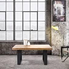 womo design couchtisch 100x60x47 cm aus massivholz mangoholz mit metallgestell industrial design handgefertigte wohnzimmertische stahlprofile