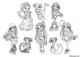 Free Bratzillaz Printable Coloring Pages For Girls