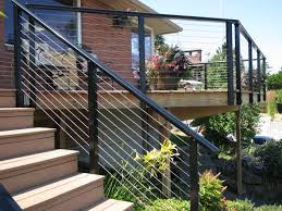 Horizontal Deck Railing Ideas by Deck Cable Railing Roselawnlutheran