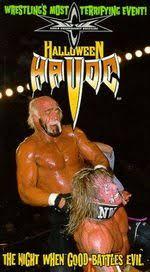 Halloween Havoc 1999 Hogan Sting by Halloween Havoc For Extreme Wiki Fandom Powered By Wikia