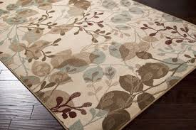 3x5 Artistic Modern Floral Aqua Blue Brown Area Rug Carpet