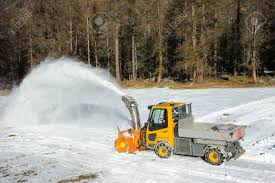 100 Snow Blowers For Trucks Pickup Truck With Blower Removing By Road Stock Photo
