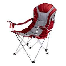 Reclining Camp Dark Red Patio Chair