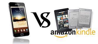 Amazon Kindle Fire Vs Galaxy Note SmartPhone Tablet parison