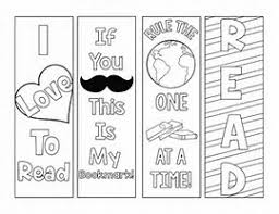 Image Result For Print Out Bookmarks To Color