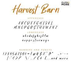 Free Harvest Barn Script Font Is A Fresh Beautiful Rustic Farmhouse