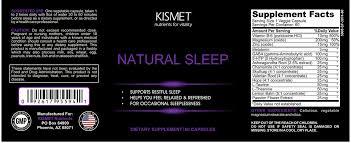 natural sleep aids natural sleep supplements kismet nutrients