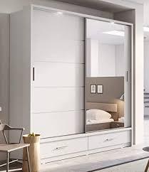 arthauss arti 5 moderner schlafzimmer spiegelschrank schiebetüren 200 cm mattes weiß