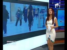 Extremly Hot News Anchor Wearing A Sexy Dress