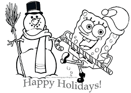 Spongebob Squarepants Coloring Pictures To Print Halloween Printable Pages Book At Sponge Full Size