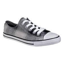 converse all plaid converse all dainty black white plaid shoe slimline trainers