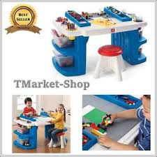 Toddler Art Desk With Storage by Step 2 Children Art Drawing Desk Table Activity Organizer W Stool