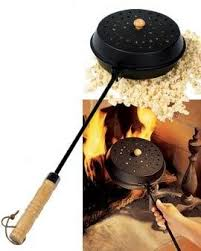 Popcorn Popper Nut Coffee Roaster Old Fashioned Camp Fire Or Stovetop Corn