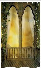 abakuhaus duschvorhang badezimmer deko set aus stoff mit haken breite 120 cm höhe 180 cm fantasie mystic fairytale kaufen otto