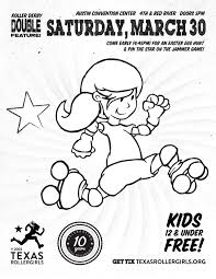 OMG Texas Rollergirls Coloring Book Poster 3
