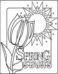Inspiring Free Spring Coloring Pages Color Book Ideas For You