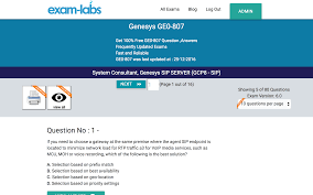 GE0-807 - Genesys Real Exam Questions - 100% Free | Exam-Labs Troubleshooting Voip Problems With Wireshark Doesnt Work The Interactive Connect Philosophy We Create Partnerships Not Ocs Option Descriptions Auctus Profile Call Centre Voice Response Hammer Testing Genesys And Nice Youtube Monitoring Sip Protocol Dotcommonitor Telecom Equipments Accsories Avi Jdsu Acterna Free Snom Flexor Cti For Outlook Application Offers Advanced Smartaction Artificial Intelligence Ivr Contact Center Services Read Me Documentation Pass Genesys Ge0807 Exam In Just 24 Hours 100 Real Exam