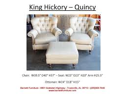 King Hickory Quincy Chair You Choose The Fabric Or Leather ... Barnett Fniture King Hickory Winston Bartlett Home Furnishings Store Tn Accent Chairs And Ottomans W010 Francis Brinsmade Chair Bentley Sofa Living Room Fabric With Panel Arm Blackbrown Floral Ottoman Round Coastal By Universal 3839 Pebble Athens 79 Off Abc Carpet Cisco Brothers