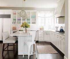 Kitchen With Corner Farmhouse Sink