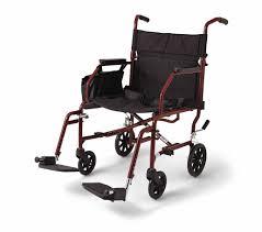 Medline Lightweight Steel Transport Chair, 19