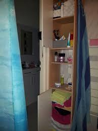 badezimmer hochschrank braun weiß
