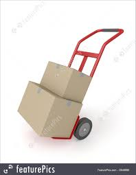 Illustration Of Hand Truck With Boxes